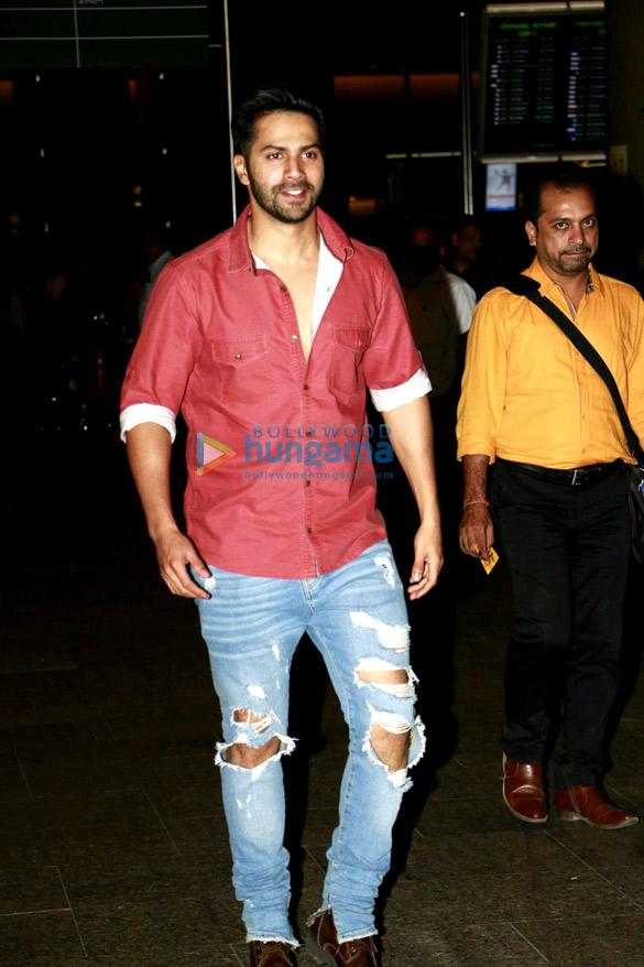Varun Dhawan, Prachi Desai and Neha Dhupia snapped at the Mumbai airport