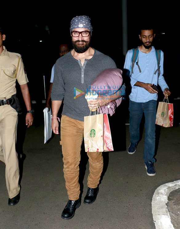Aamir Khan returns from Lucknow after promoting 'Dangal'