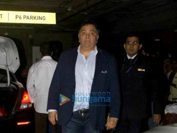 Amitabh Bachchan, Rishi Kapoor and Raju Hirani snapped at the airport