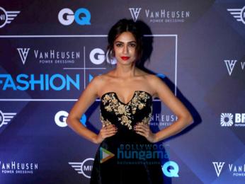 Farhan Akhtar, Kunal Kapoor & Anil Kapoor walk the ramp at the GQ Fashion Nights