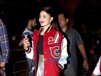 Jacqueline Fernandez snapped at the airport leaving for New York