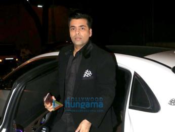 Karan Johar snapped at the 100th Episode of Koffee with Karan bash