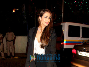 Malaika Arora Khan snapped post-midnight mass at Bandra church