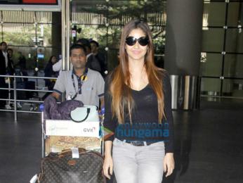 Meera Chopra spotted at Mumbai International Airport