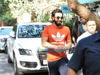 Ranveer Singh snapped post a salon session at B'Blunt