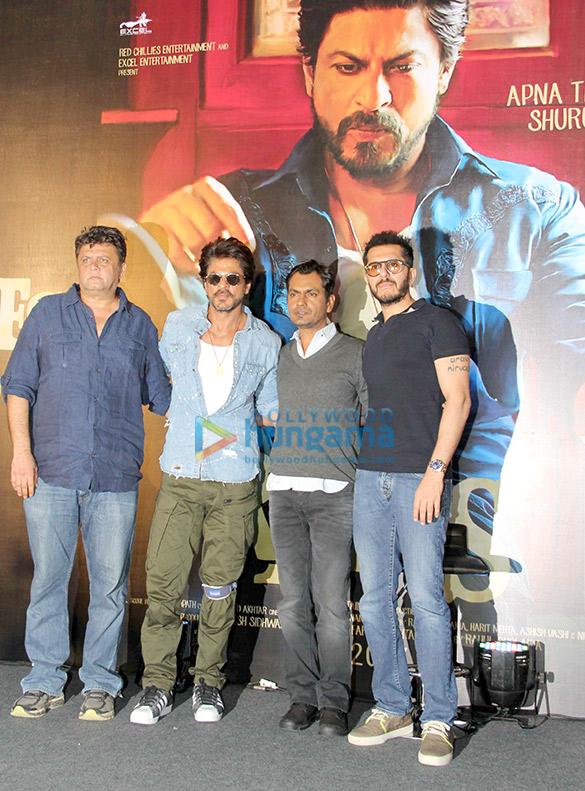 Shah Rukh Khan graces the trailer launch of his next film 'Raees'
