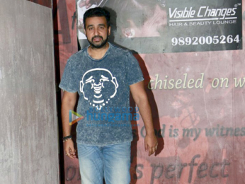 Shilpa Shetty and family snapped post movie outing