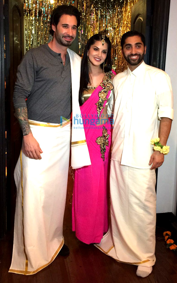 Sunny Leone Graces Her Brother Sundeeps Wedding Ceremony Parties Amp Events