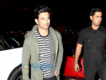 Sushant Singh Rajput and Neha Dhupia snapped at the airport