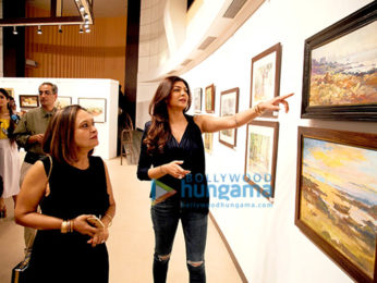 Sushmita Sen & Prasoon Joshi inaugurate late John Fernandes' Masterstrokes art show