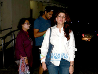 Twinkle Khanna snapped at PVR Juhu post a movie screening