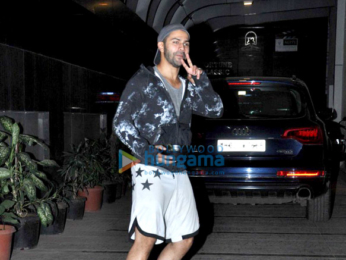 Varun Dhawan snapped outside his gym