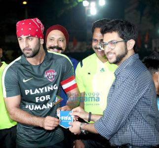 Ranbir Kapoor, Aditya Thackeray spotted at Yuva Bandra XI vs All-Stars XI football tournament