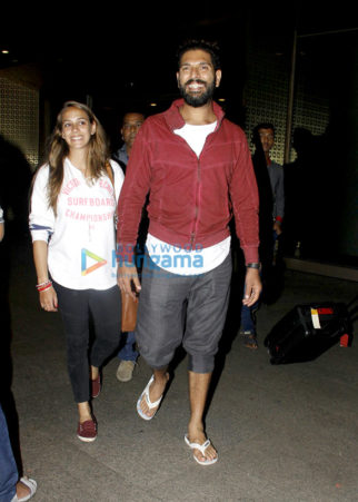 Yuvraj Singh, Hazel Keech & Kangna Ranaut clicked at the airport