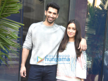 Aditya Roy Kapur And Shraddha Kapoor Snapped At Ok Jaanu Promotions Parties Events Bollywood Hungama