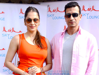 Ajay Devgn and others at 'Sheesha Sky Lounge's opening