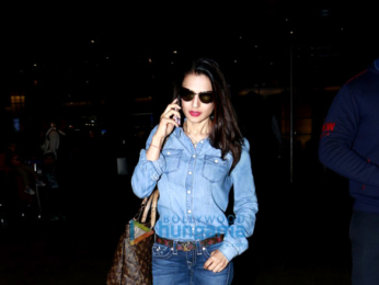 Ameesha Patel snapped at the airport