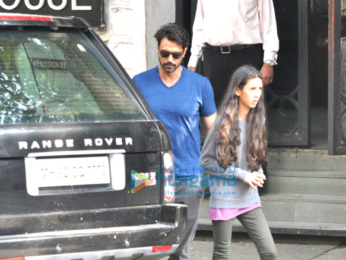 Arjun Rampal snapped with his daughter post lunch at The Korner House
