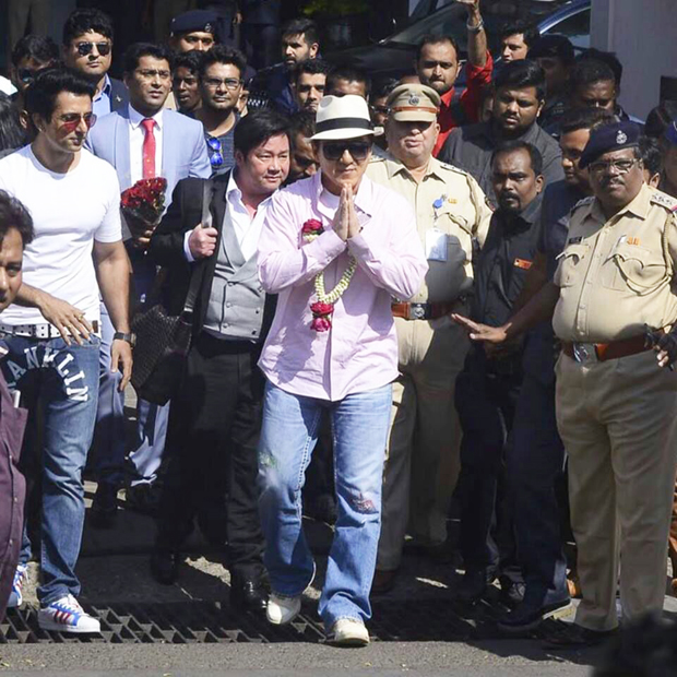 Jackie Chan arrives in Mumbai to promote his film Kung Fu Yoga-1