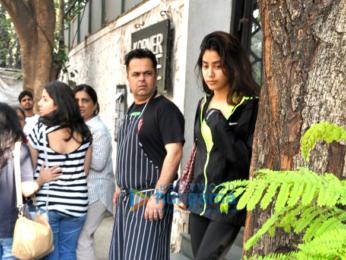 Jhanvi Kapoor snapped with rumoured boy friend Shikhar