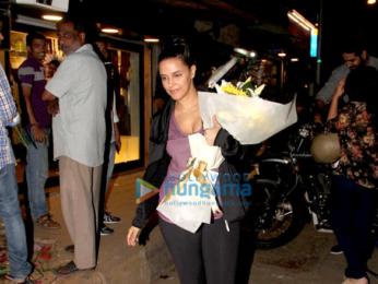 Neha Dhupia snapped at a florist in Bandra
