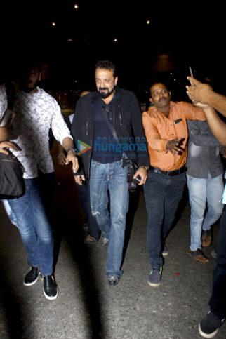 Sanjay Dutt snapped on his return from Dubai