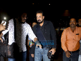 Sanjay Dutt snapped on his return from Dubai