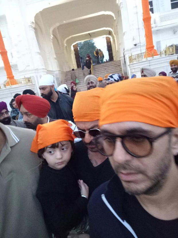 Shah Rukh Khan and Abram seek blessings at the Golden Temple