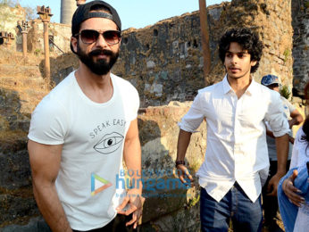 Shahid Kapoor and Ishaan Khatter snapped on the sets of Majid Majidi movie