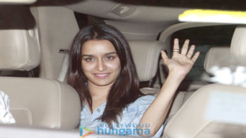 Shraddha Kapoor snapped post dinner at Shaad Ali's house