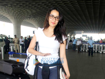 Shraddha Kapoor & Sophie Choudry snapped at the airport