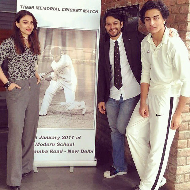 Soha Ali Khan and Kunal Kemmu support Saif Ali Khan's son Ibrahim at Tiger Memorial cricket match