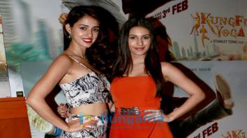 Sonu Sood, Amyra Dastur and Disha Patani at 'Kung Fu Yoga' promotions