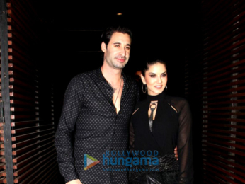 Sunny Leone snapped with hubby post dinner at Estella, Juhu