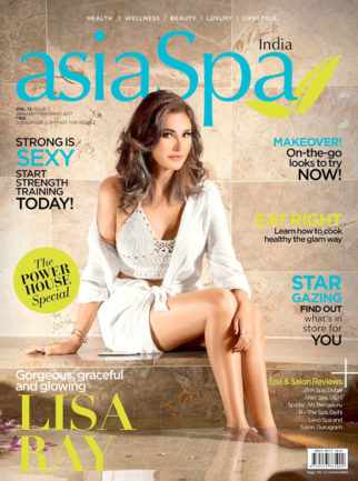 Lisa Ray On The Cover Of asiaSpa