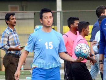 Abhishek Bachchan and Bhaichung Bhutia grace the 'Nike Premier League U-16's event