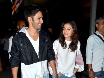 Alia Bhatt & Varun Dhawan return from the promotions of 'Badrinath Ki Dulhania' in Jaipur