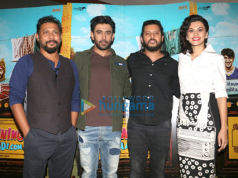 Amit Sadh & Taapsee Pannu at the song launch 'Mannerless Majnu' from 'Running Shaadi.com'