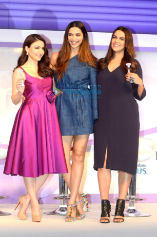 Deepika Padukone, Neha Dhupia and Soha Ali Khan unveil new 'Gillette Venus Breeze'