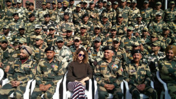 Kangna Ranaut dances with BSF Jawans during her visit at Army camp in Jammu