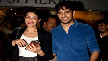 Sidharth Malhotra and Jacqueline Fernandez snapped at the wrap up bash of 'Reloaded'