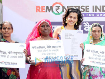 Taapsee Pannu endorses a cashless economy by supporting the 'Remonetise India' campaign