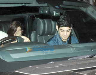 Twinkle Khanna and Aarav Kumar snapped post a movie screening at PVR Juhu