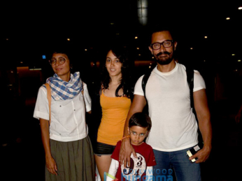 Aamir Khan returns from Thailand holidays with family