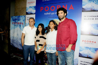 Aditya Roy Kapur, Dia Mirza and others at 'Poorna' screening