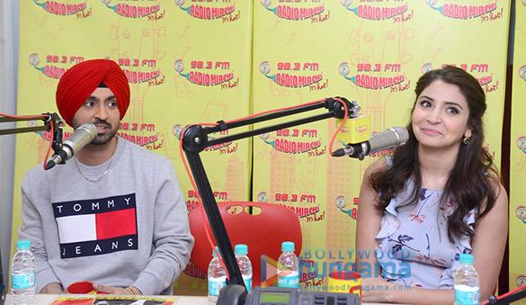 Anushka Sharma & Diljit Dosanjh promote 'Phillauri' at 98.3 FM Radio Mirchi studio