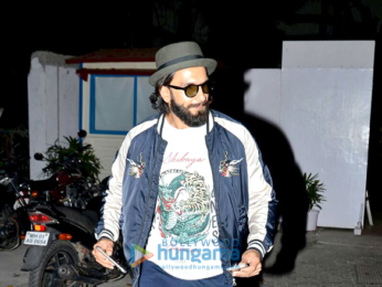 Ranveer Singh snapped post gym workout in Bandra