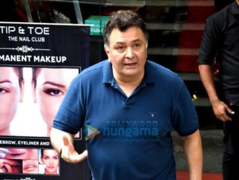 Rishi Kapoor snapped in Bandra