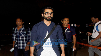 Shahid Kapoor snapped on his way to Delhi to attend the India Today Conclave