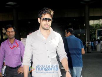 Sidharth Malhotra arrives back from Goa